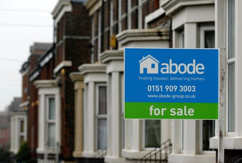 U.K. Home-Price Index Falls to Lowest in a Year as Sales Decline