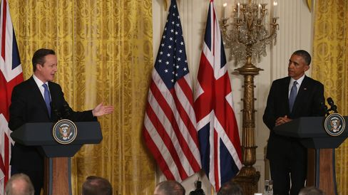 British Prime Minister David Cameron and President Barack Obama speak at the White House, Jan. 16. 2015