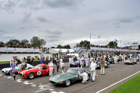 This year's Goodwood Revival in southern England, as it had in the past, drew thousands of classic car enthusiasts.