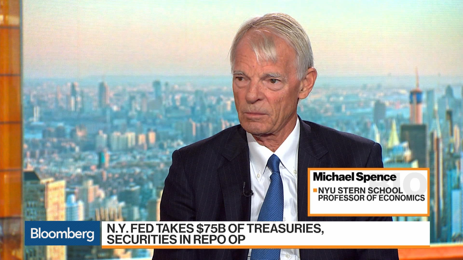 Fed Can Handle Repo Market: Michael Spence