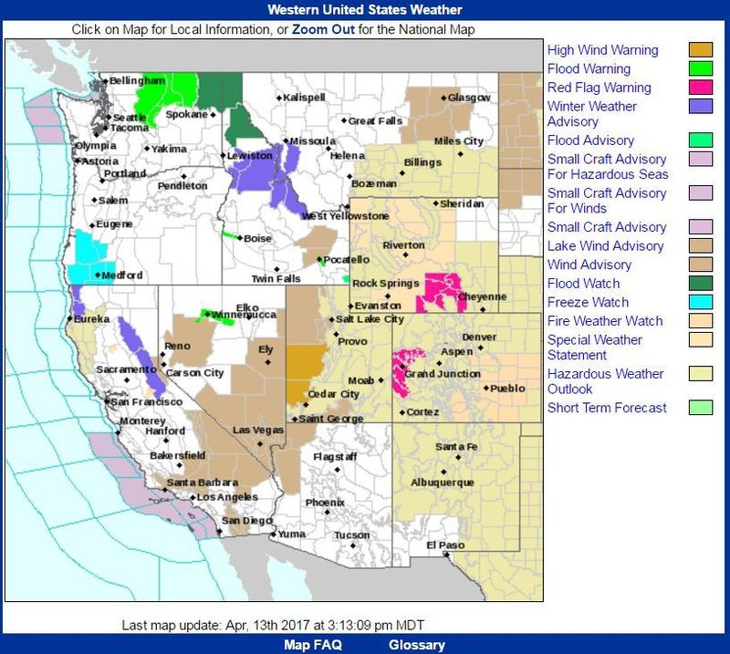 Weather Service Looks to Subdue Spectrum of ColorCoded Alerts