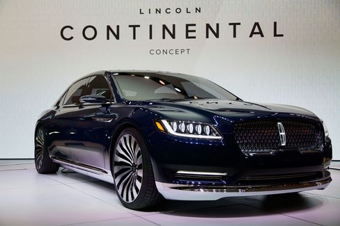 Ford Motor's 2016 Lincoln Continental luxury sedan concept at the 2015 New York International Auto Show.