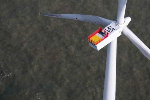 Aerial Views Of The London Array Offshore Windfarm
