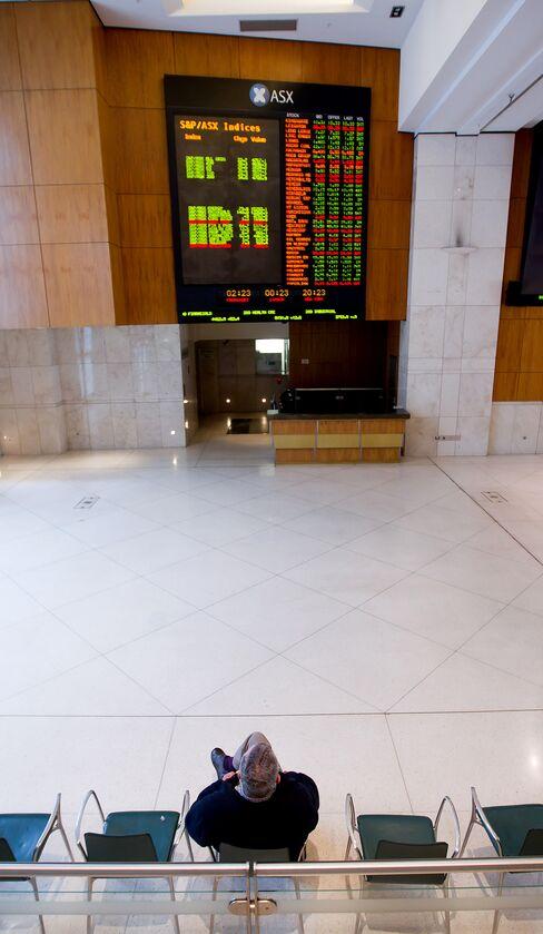 Japan Stock Futures Rise; Australia Shares Fall