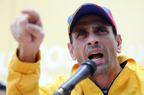Venezuelan Opposition Leader Henrique Capriles