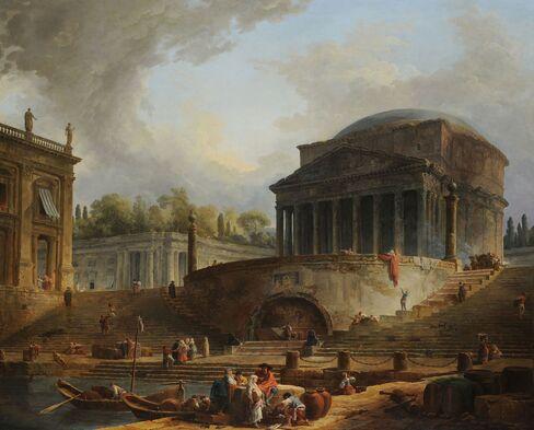 Hubert Robert, Le Panthéon avec le port de Ripetta, Salon of 1767.