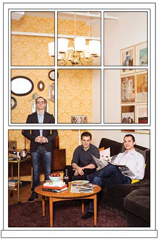 Airbnb founders (from left) Joe Gebbia, Brian Chesky, and Nathan Blecharczyk