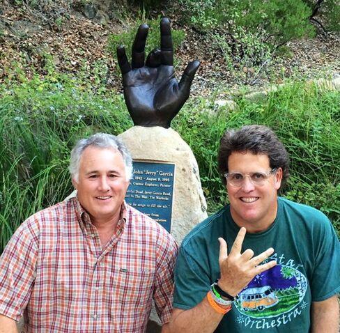Brittingham (right) at the Jerry Garcia Glen in Santa Barbara, Calif.