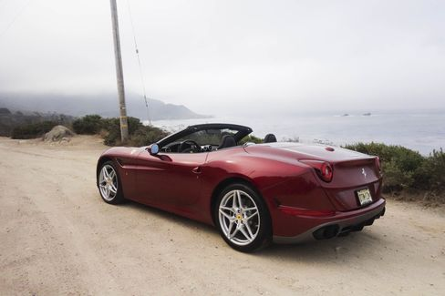 The trunk in the Ferrari California T HS is very small, especially when the top is down.