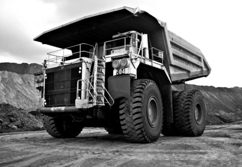 A large haul truck used to move coal.