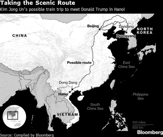 Kim Jong Un Begins Long Train Trek to Vietnam for Trump Summit