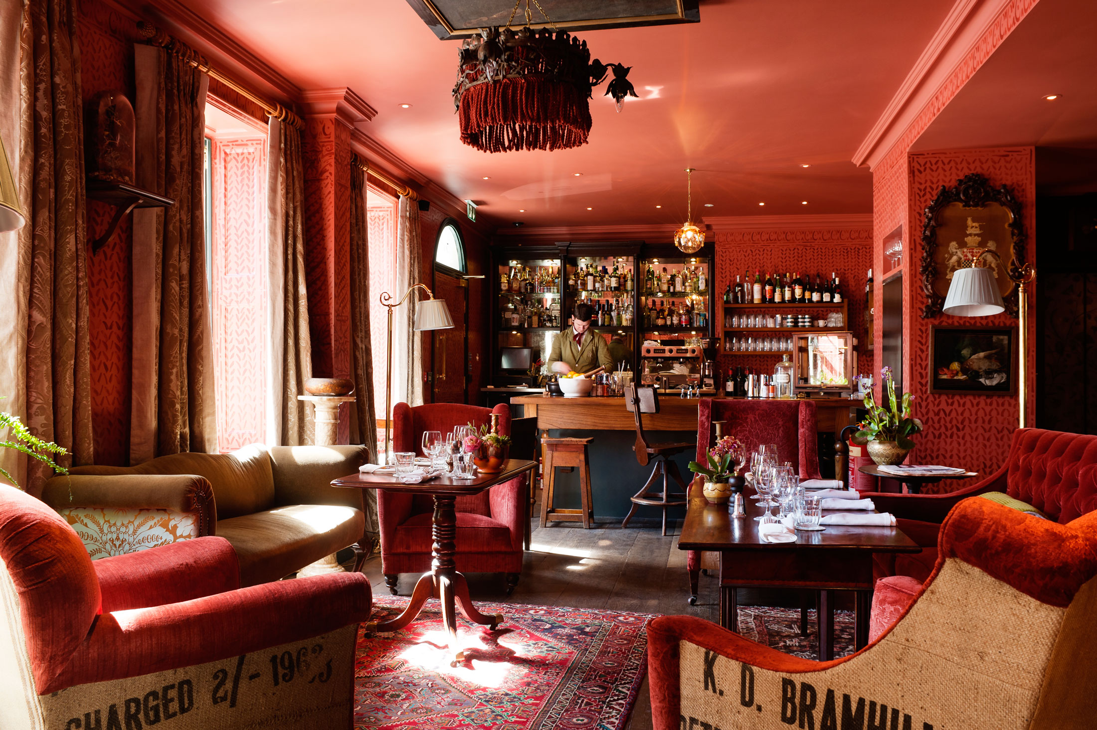 Living Room Bar London Londons Top 10 Hotel Bars The Quirky Cool And Glamorous Bloomberg