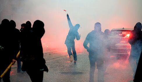 Demonstration in Milan