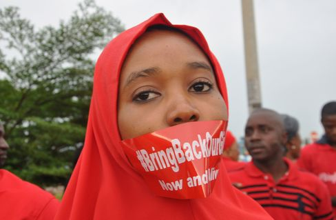 A Woman Attends A Demonstration In Abuja