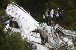 コロンビアの墜落現場でのラミア航空の救出隊(11月29日)