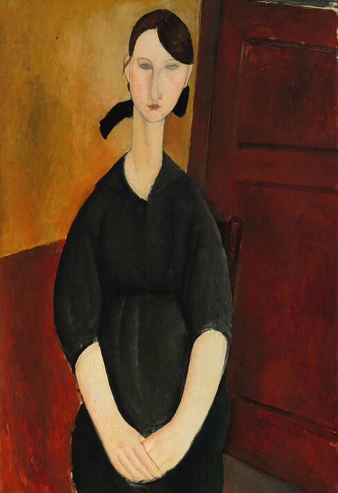 """""""Portrait de Paulette Jourdain"""" by Amedeo Modigliani."""