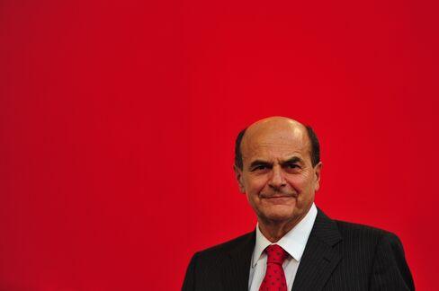 Democratic Party Head Pier Luigi Bersani