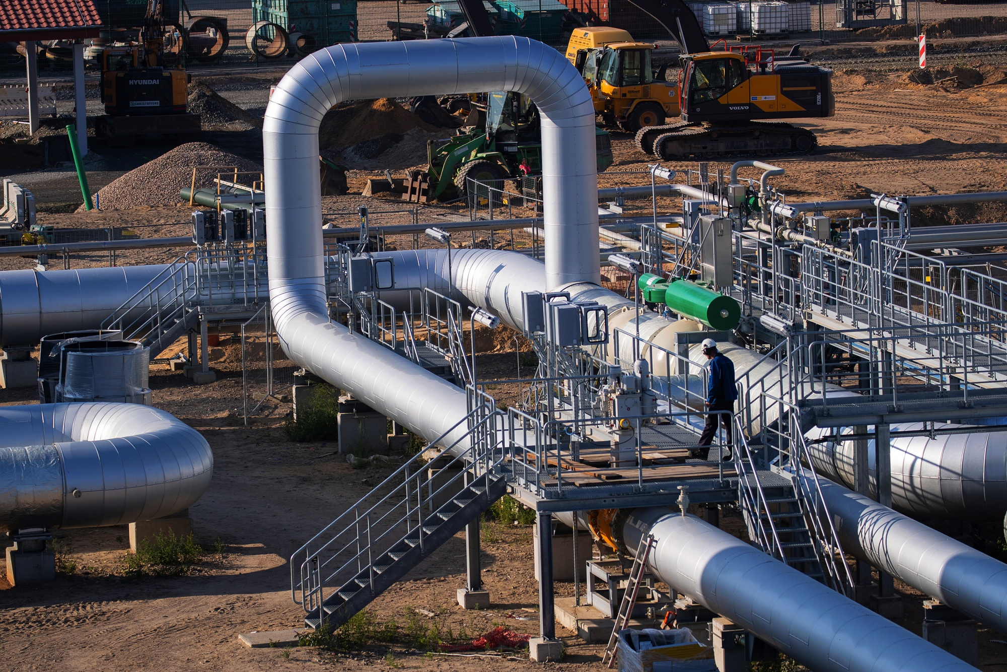 Construction of Nord Stream's EUGAL Pipeline Compressor Site