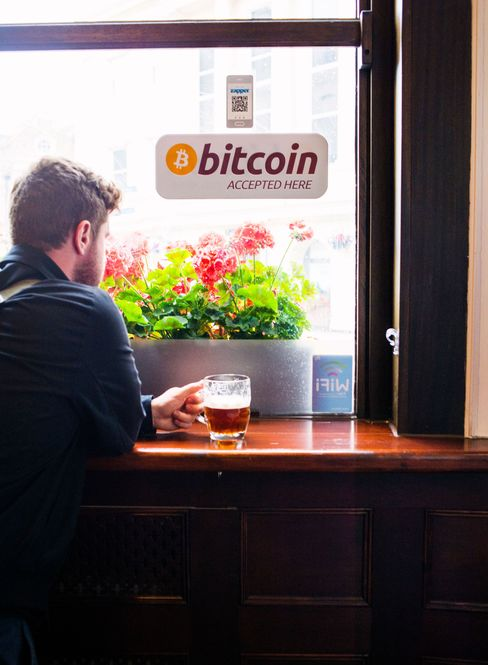 The cryptocurrency community congregates at The Thirsty Pigeon, where bitcoins buy pints.