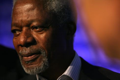 Joint United Nations-Arab League Envoy Kofi Annan