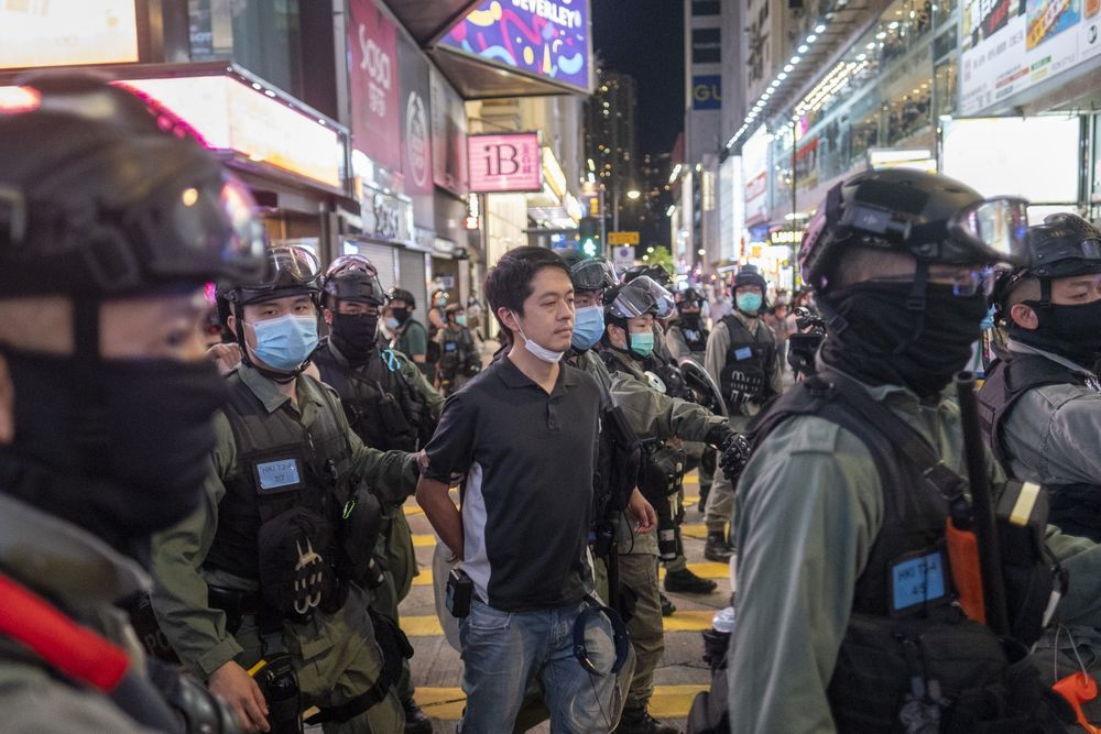 Hong Kong Demonstrators Mark Anniversary of June 12 Protest Clashes