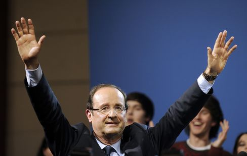 French Socialist Presidential Candidate Francois Hollande
