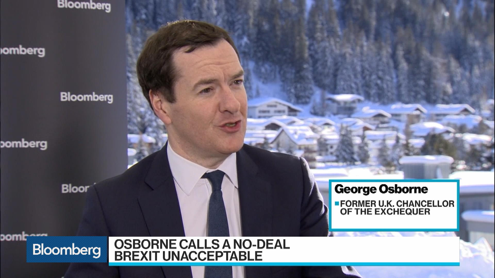 Brexit Without a Deal Is Not Acceptable, Osborne Says