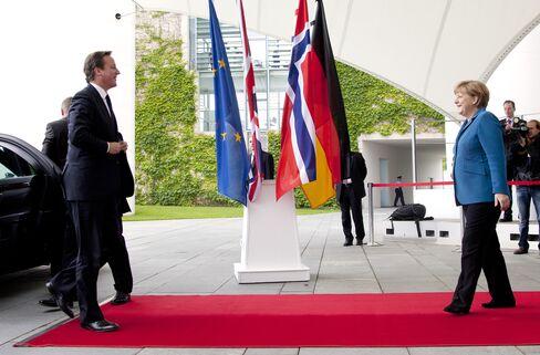 Chancellor Angela Merkel and Prime Minister David Cameron