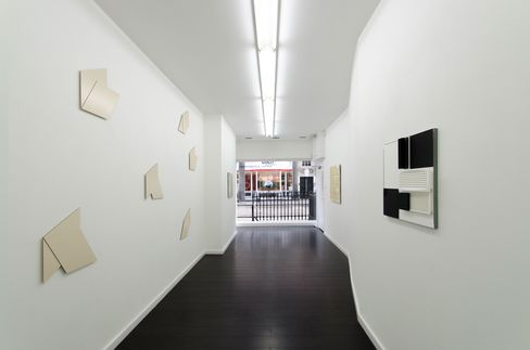 "Installation view, Hartmut Böhm, ""Kontrast B / W,"" 2015, Bartha Contemporary, London"