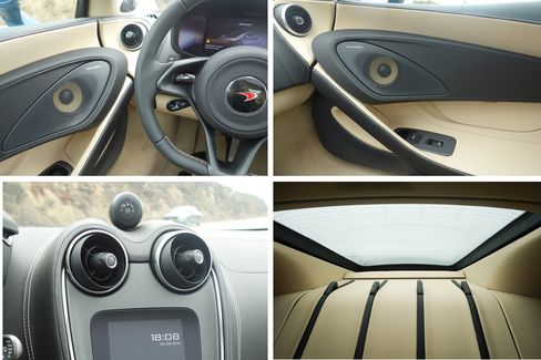 The fit and finish of the car arehigh quality and well made, with more leather than in the 570S.