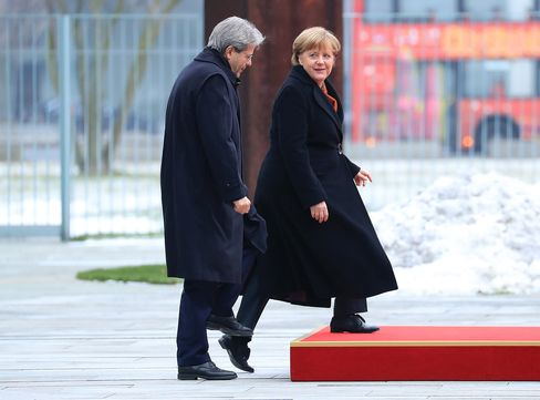 Merkel and Gentiloni, Jan. 18.