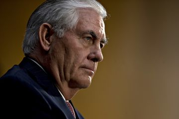 Rex Tillerson listens during a Senate Foreign Relations Committee confirmation hearing in Washington, D.C., on Jan. 11, 2017.
