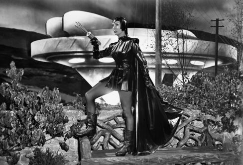 Patricia Laffan from the 1954 film 'The Devil Girl From Mars'