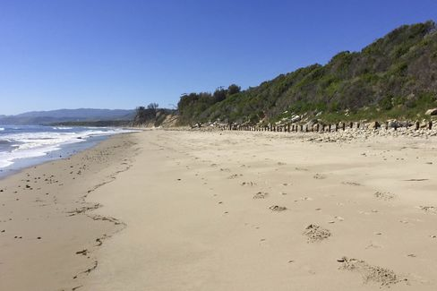 Some of the two miles of private beachfront at Las Varas Ranch.