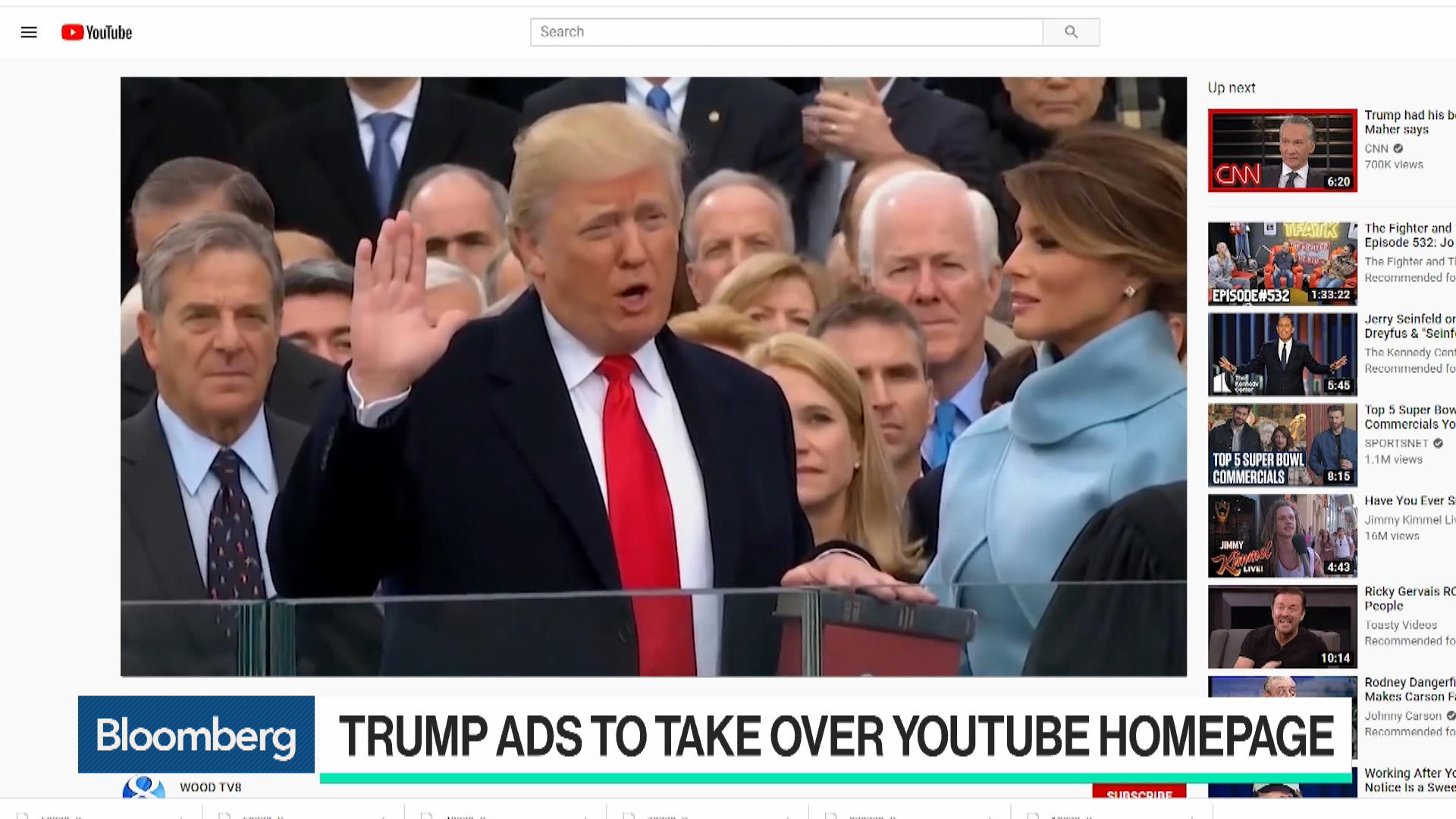 Trump Campaign to Take Over YouTube Home Page on Election Day