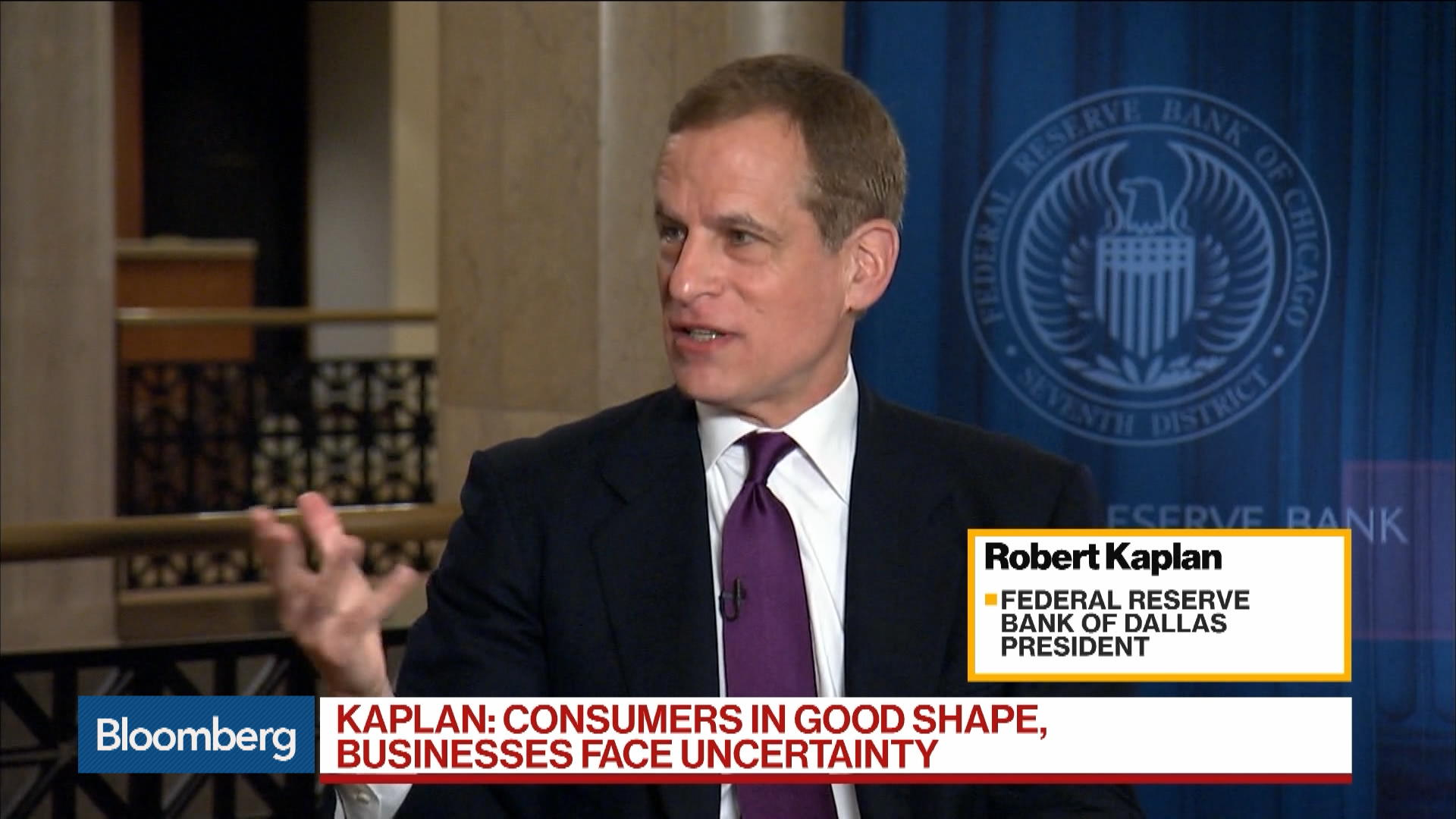 Fed's Kaplan on Rate Cut Patience, Mexico Tariffs, Policy