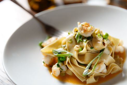 The fresh pasta dishes change frequently. Recently, there was spring vegetables with crawfish in a simple butter sauce.