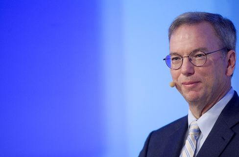 Eric Schmidt, chief executive officer of Google Inc.