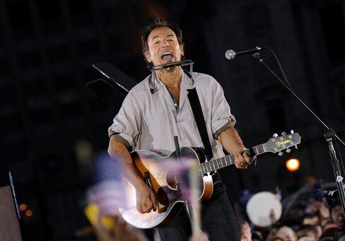 American musician Bruce Springsteen