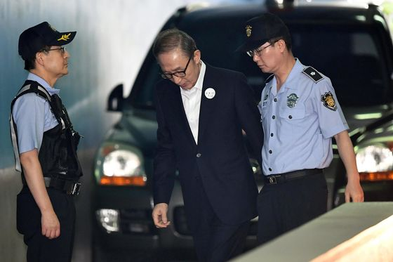 Former South Korean President Lee Sentenced to 15 Years in Jail