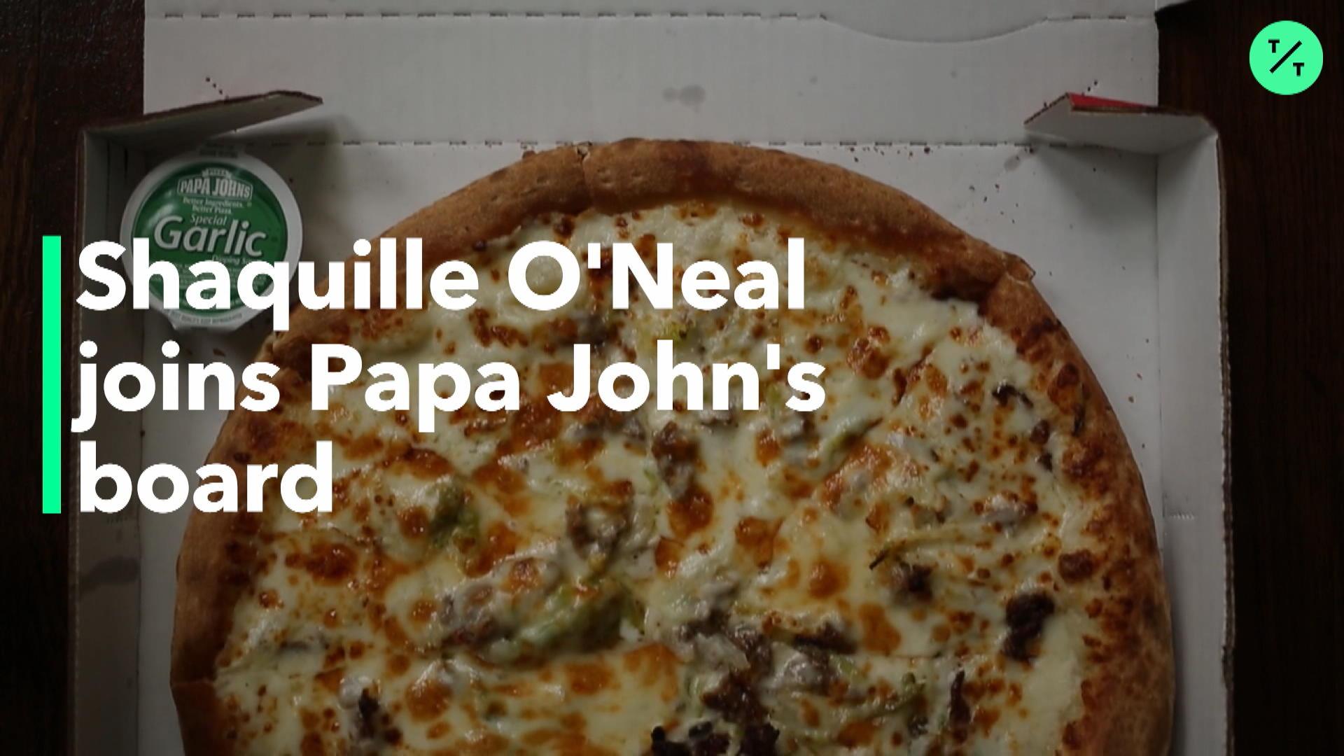 Shaquille O'Neal Joins Papa John's Board
