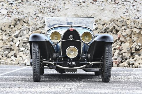 Gooding & Co. is selling this 1932 Bugatti Type 55 roadster. This blue baby is arguably the finest example of a roadster produced by Jean Bugatti. It raced at the 1932 Mille Miglia race in Italy and had a full restoration in 2013.