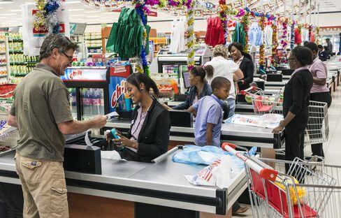 Inside a Choppies supermarket