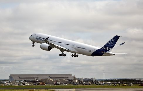 Airbus A350 Lifts Off for First Flight Days Before Air Show