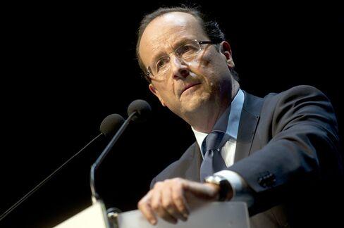 France's Presidential Candidate Francois Hollande