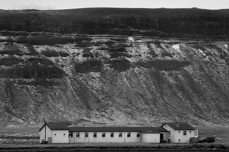 Kviabryggja Prison's single-story barracks.