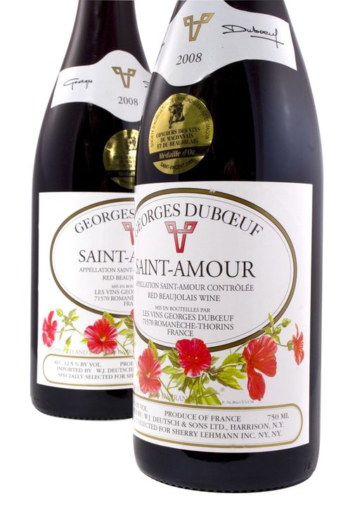 A bottle of Georges DuBoeuf St. Amour
