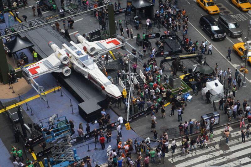 LifeSize XWing Starfighter Worlds Biggest Lego Model Lands - Biggest lego ship