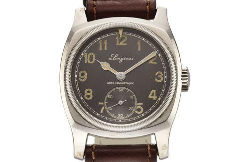 Not a chronograph, but this Longines was made in 1935 for Czech pilots.