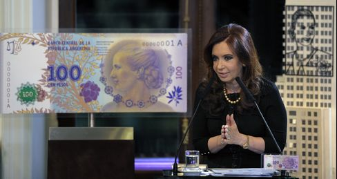 Evita Peron to Emblazon 100-Peso Bill as Argentines Hunt Dollars